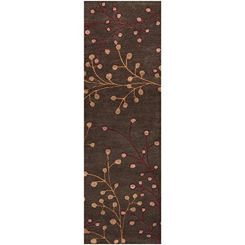 Surya Athena ATH-5052 Transitional Hand Tufted 100% Wool Dark Chocolate 2'6