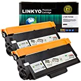 LINKYO Compatible Replacement for Brother TN750 TN-750 TN720 High Yield Toner Cartridge (Black, 2-Pack)