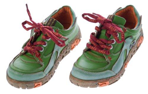 Tma verde Pelle Rosso Nero Verde Comode Lacci Colori Donna Con Bianco Da Sneakers Giallo In Blu Verde Basse Scarpe rX4Urw