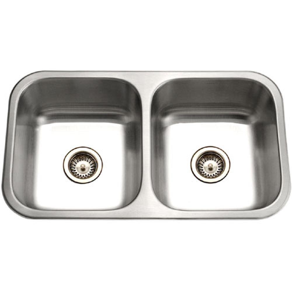Houzer ED-3108-1 Elite Series Undermount Stainless Steel 50/50 Double Bowl Kitchen Sink by HOUZER