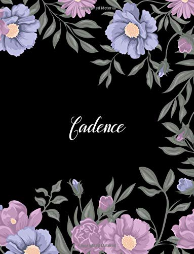 Cadence: 110 Ruled Pages 55 Sheets 8.5x11 Inches Climber Flower on Background Design for Note / Journal / Composition with Lettering Name,Cadence ebook