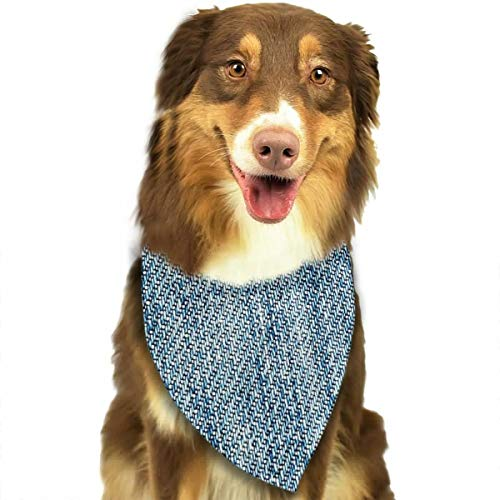 Pet Scarf Dog Bandana Bibs Triangle Head Scarfs Jeans Fabric Accessories for Cats Baby Puppy