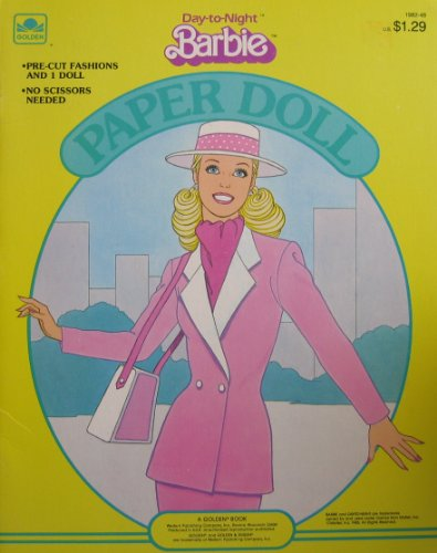 Day to Night BARBIE Paper Doll Book w Pre-Cut Fashions (1985 Golden) from Day-to-Night Barbie Paper Doll