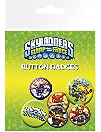 Skylanders Swap Force Starter Pack Pin Button Badge Pack