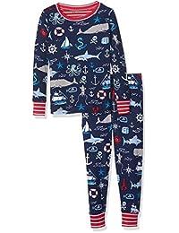 Hatley boys Organic Cotton Long Sleeve Printed Pajama Set
