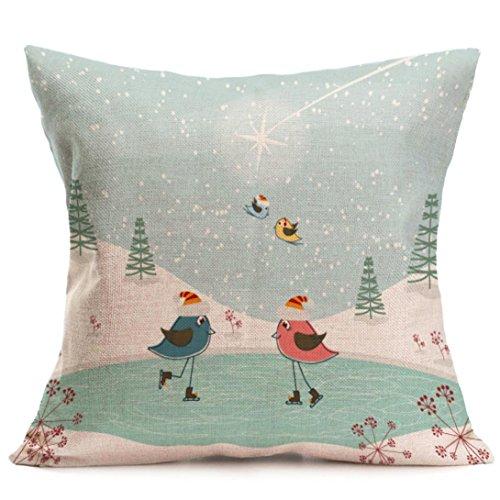 (Hot Sale! Pillowcase,Canserin Christmas Santa Claus Cartoon Pillow Cases Decoration Festival Cushion Pillow Cover 43cm43cm (Multicolor)