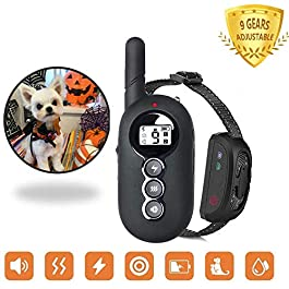 ACAPETTY Dog Training Collar-Dual Channel with Remote Control, Waterproof Receiver Training Modes, Beep, Vibration for Pet Training, 1500 ft Control Smart Touch Pet Training Collar