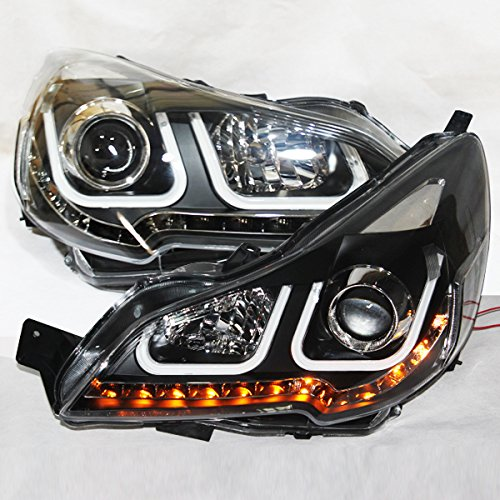 - Generic for 2010-2012 Year for Subaru Outback LED U Style Angel Eyes Head Lamps LD