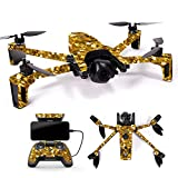 MightySkins Skin for Parrot Anafi Drone – Gold Chips | Protective, Durable, and Unique Vinyl Decal wrap Cover | Easy to Apply, Remove, and Change Styles | Made in The USA For Sale