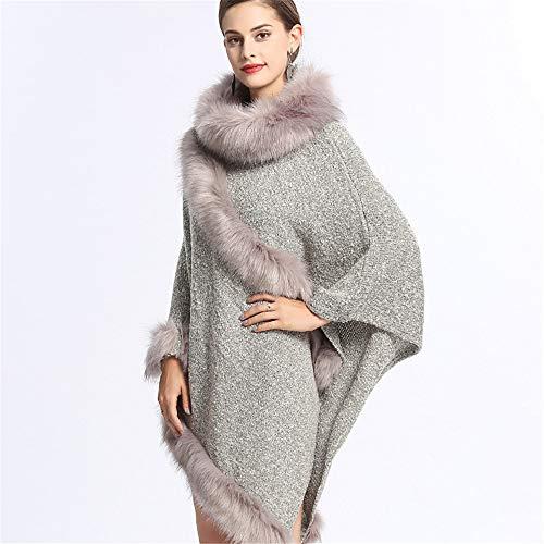Grey Donna Maniche Sintetica Zoodq Per Pelliccia colore Aperta Lunga Manica In Cappotto Beige A Visiera Lunghe Con qgBHaSw