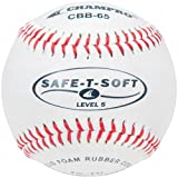 Champro Safe-T-Soft Level 5 Baseball (White, 9-Inch) Pack of 12