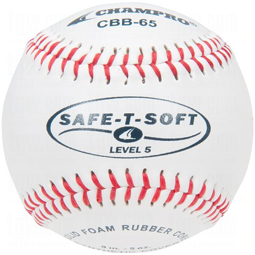 Champro Safe-T-Soft Level 5 Baseball (White, 9-Inch) Pack of 12 by CHAMPRO