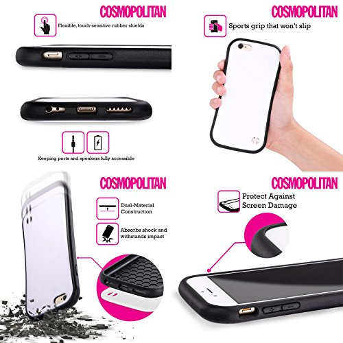 Official Cosmopolitan Pink Pattern 2 Logo Hybrid Case for Apple iPhone 5 / 5s / SE