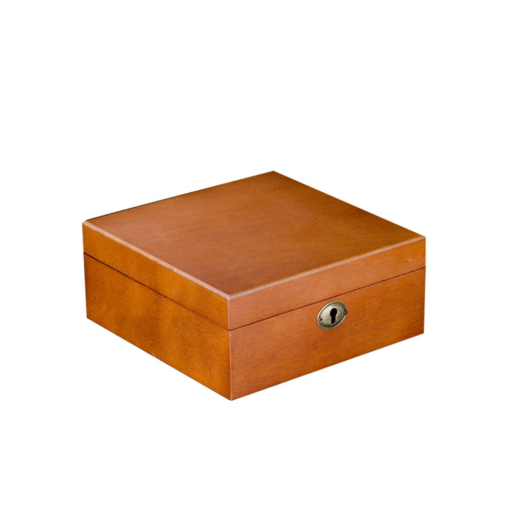 Watch Bracelet Jewelry Display Collection Storage Boxes Case Solid Wood Retro 6 Large Capacity Brown TG