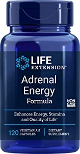 Life Extension Adrenal Energy Formula, 120 Vegetarian Capsules