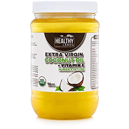 hot sale Raw Organic Coconut oil with vitamin E unrefined, 16oz