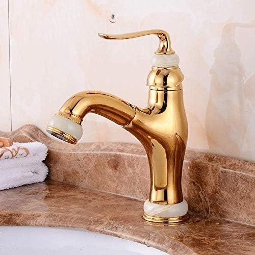 CHENBIN-BB 蛇口をミキシングキッチンミキサーシンクタップキッチン蛇口流域台所と浴室の銅ハードウェアの蛇口レンチタイプゴールドプル