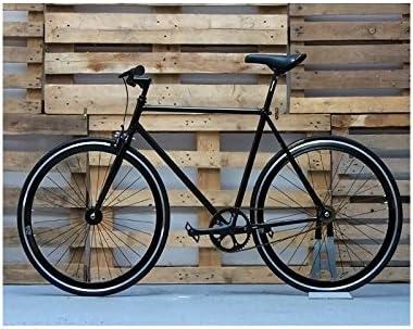 Desconocido Bicicleta fixie negra con detalles: Amazon.es ...