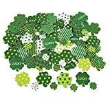 Fun Express - Fabulous Foam Adhesive Shamrock Shapes for St. Patrick's Day - Craft Supplies - Foam Shapes - Regular - St. Patrick's Day - 500 Pieces
