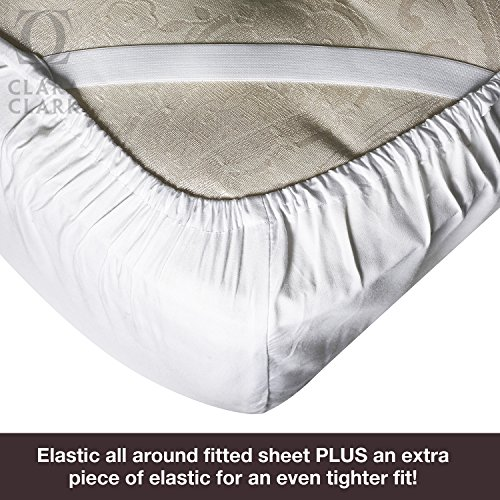 Bamboo Bed Sheet Set, White, King Size, By Clara Clark ...