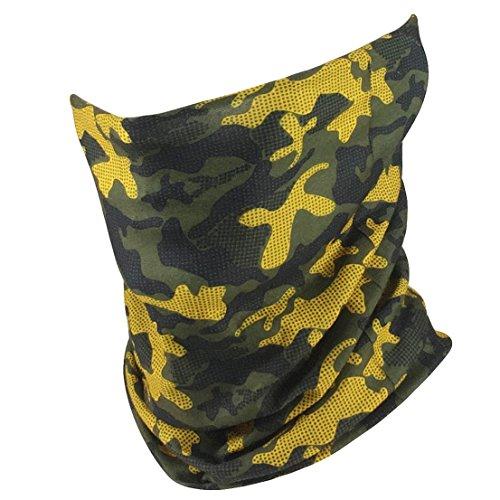 GOT Headband Fishing Mask Camo Headwear – Works as Fishing Sun Mask, Face Shield, Neck Gaiter, Headband, Bandana, Balaclava – Multifunctional Breathable Seamless Microfiber (Modern Camo)