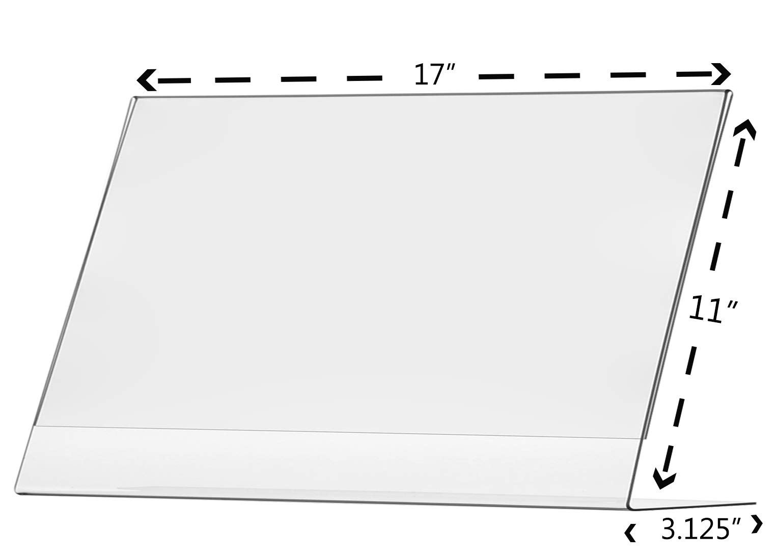 Marketing Holders Sign Holder 17''w x 11''h Table Top Side Loading Slant Back Lot of 5 by Marketing Holders (Image #2)
