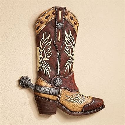 229cee692d8 Amazon.com: Touch of Class Cowboy Boot Wall Decor Plaque Rustic ...