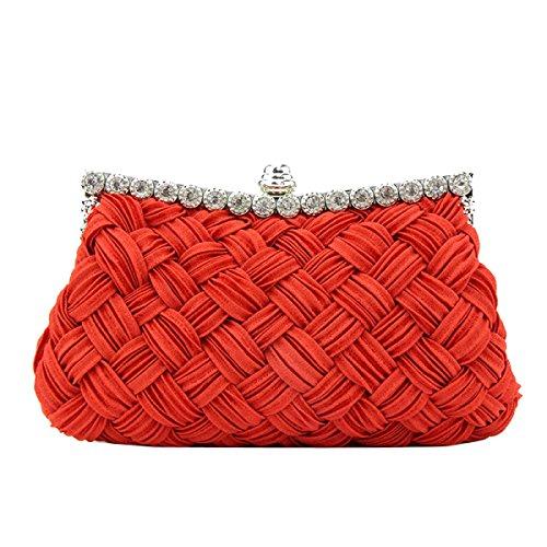 De Soirée Femme De Sac Rouge Tricot Sac Mode Strass Maintien De Classique Sac De Sac Mariage red Mode tnYq8