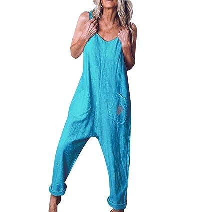 US Summer Plus size Women/'s Camisole Harem Casual Jumpsuit Baggy Trousers Romper