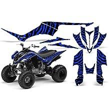 CreatorX Yamaha Raptor 350 Graphics Kit Decals Stickers Zebra Camo Blue