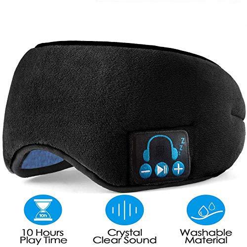 Sleep Headphones, Wireless Sleep Headphones Bluetooth Headband, Super Soft, Long Time Play, Washable, Hands-Free Calling for Sleeping, Sports, Meditation & Relax (Black)