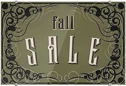 Fall Sale Victorian Gothic Premium Acrylic Sign 18x12 5-Pack CGSignLab