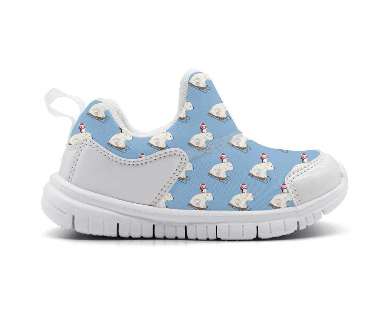 ONEYUAN Children Cute Polar Bear and Penguin Kid Casual Lightweight Sport Shoes Sneakers Running Shoes