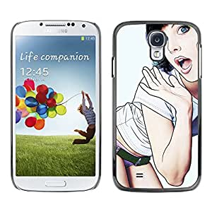 TaiTech / Hard Protective Case Cover - Babe Panties Sexy Lips Legs Woman - Samsung Galaxy S4 I9500
