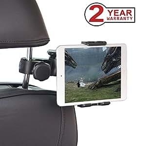 Avantree iPad Holder for Car Headrest, Tablets Car Mount Back Seat Bracket for iPad Mini Air, 10.5'' iPad Pro, Phones, Samsung Galaxy, 4'' to 10'' Devices - 9583