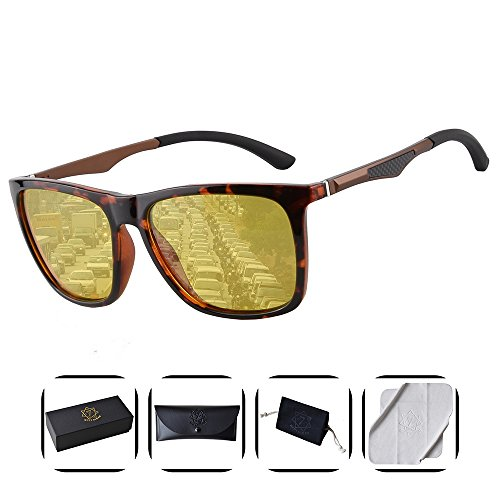 Heptagram Unisex Wafarer Mg-Al Hot Retro Ultra Light Sunglasses for Driving Fishing Golf Outdoor (Tortoise / Night - Fashion Sunglasses Are In Which 2018