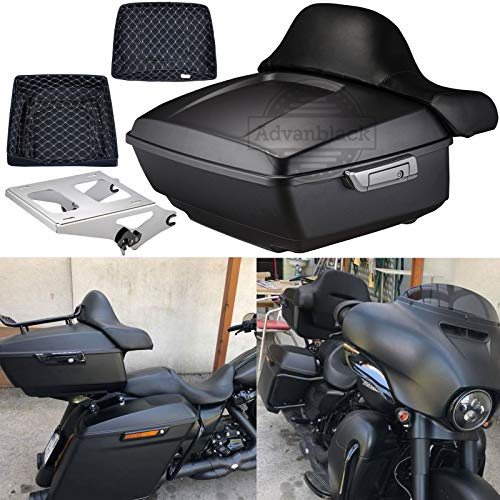 Us Stock Advanblack Denim Black King Tour Pack Tour-Pak Liners Trunk Rack Fit for Harley Touring Street Glide Special Road Glide Road King Electra Glide Ultra Classic 2009-2019 (Tour Trunk Liner)