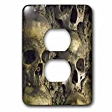 Albom Design Unusual Places - Skulls, Chapel of Bones, Evora, Portugal - Light Switch Covers - 2 plug outlet cover (lsp_100285_6)