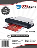 975 Supply - 10 Mil Clear Letter Size Thermal Laminating Pouches - 9'' X 11.5'' - 100 Pouches