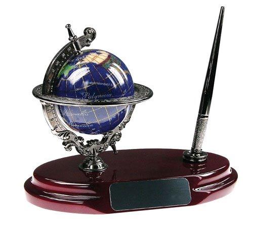 Bluestone Designs BL001A Gemstone Globe Pen Stand (Pen Design Stand Globe)