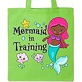 Inktastic - Mermaid in Training Tote Bag Lime Green 2ef7d
