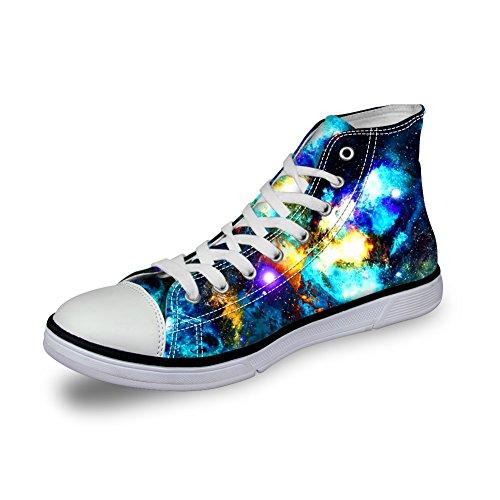 Câlins Idée Élégant Galaxie Imprimé Femmes Haut Haut Chaussures De Toile Galaxie Motif-13