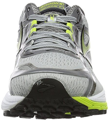 Brooks Men's Ghost 8 Running Shoes Multicolour (Metalliccharcoal/Limepunch/Silver) 9o4vk