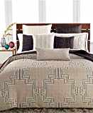 Hotel Collection Emblem Quilted King Sham Bedding Black