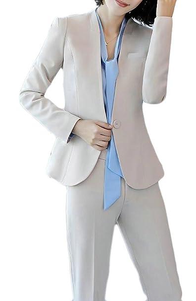 Cromoncent Conjunto de Chaquetas de Oficina para Mujer b0f62e0f278d