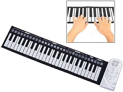 Amazon Com Portátil Enrollable 49 Key Soft Keyboard Piano Toys Games