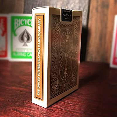 Bicycle 1 Deck of Gold Rider Back Playing Cards (GOLD) Standard Edition Deck: Toys & Games