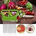 LtrottedJ Tomato Onion Vegetables Slicer Cutting Aid Holder Guide Slicing Cutter ?Safe Fork