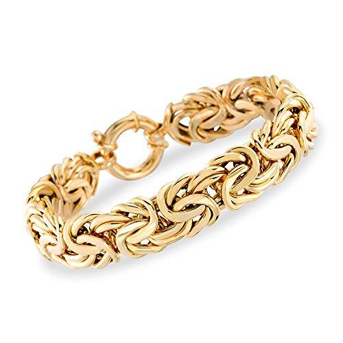 Ross-Simons Italian 14kt Yellow Gold Byzantine (Yellow Gold Byzantine Bracelet)