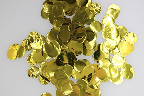 Fascola 2000 Pieces 2.5cm/1inch Metallic Gold Silver Tissue Paper Circle Confetti Party Decoration Wedding Baby Shower Favor (Baby Shower Decoratios)